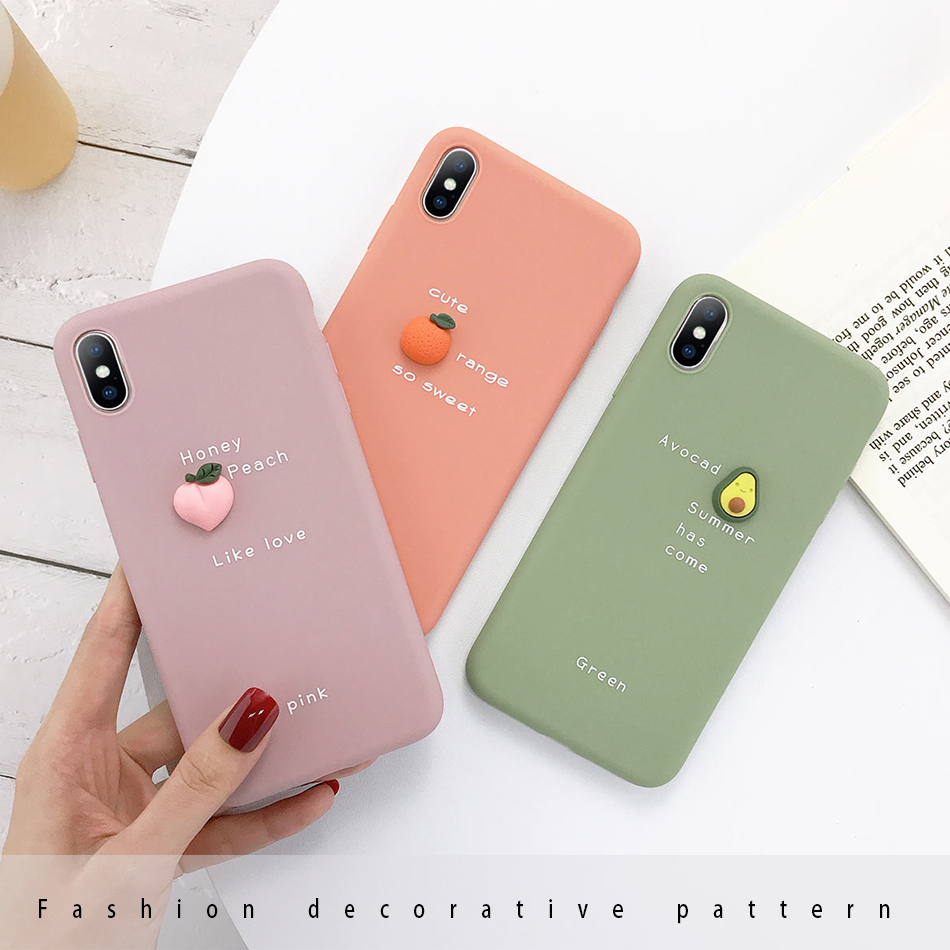 3D Candy Color Soft Phone Case for iPhone feeling love best for gift gifting