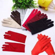1 пара эластичный ювелирные перчатки 5 цветов для выбора спандекс Стретч атласные перчатки для женщин формальный выпускного вечера перчатки