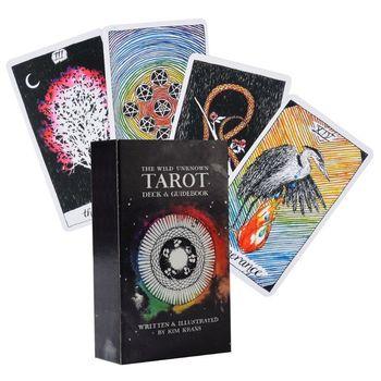 The Wild Unknown Tarot 78 cartas de cubierta Full inglés Tarot partido familiar juego de mesa Y4UB