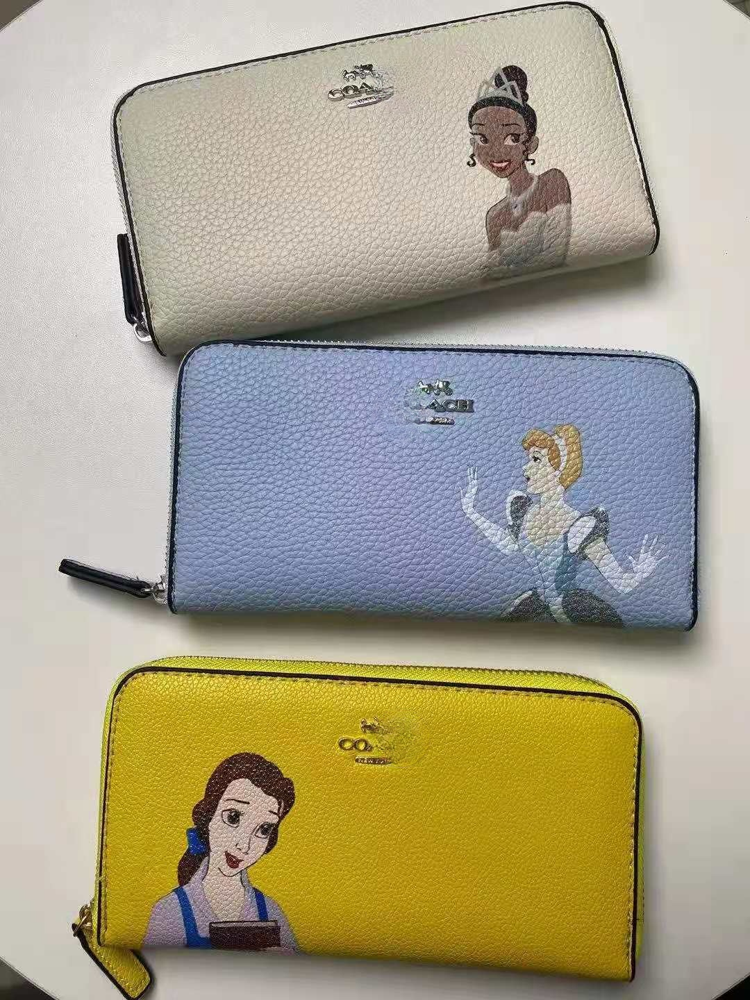 2021 New Cinderella Snow White Print Women's Handy Hand Bag Small Hand Bag Zero Wallet Mobile Phone Card Bag