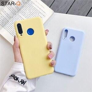 Силиконовый чехол карамельного цвета для телефона huawei p30 lite pro p20 lite p10 p smart plus z 2019 2018 матовый мягкий чехол из ТПУ