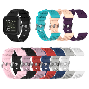 For Fitbit Versa 2/Versa/Versa Lite Band Sport Waterproof Silicone Breathable Watch Strap For Fit bit Versa 2 Bracelet S/L Size фото