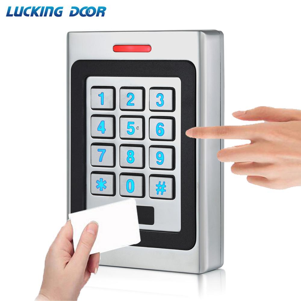 RFID Keypad Access Control System Kit Door Lock 125KHz EM Card IP67 Waterproof Metal Case Security Entry Door Reader Standalone