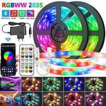 30M-5M Bluetooth LED Strip Lights RGB Warm White Waterproof Flexible Ribbon 2835 Led Light lamp RGBWW SMD Tape Diode for room