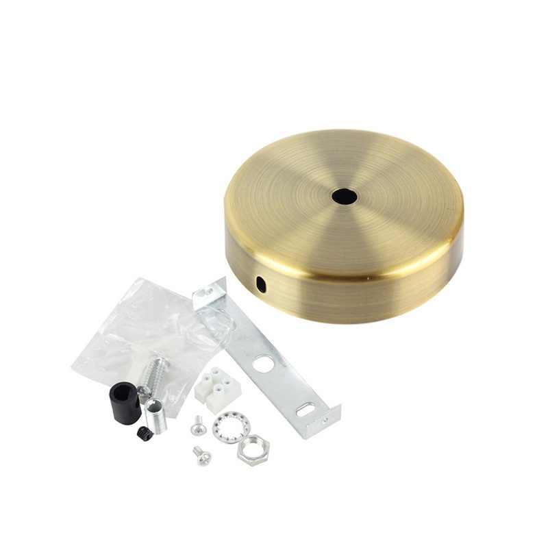 Średnica 10CM czarny/biały złoty płyta sufitowa, cena fabryczna mocowanie sufitowe akcesoria oświetleniowe do lampy wiszącej i kinkiet (XL-50)