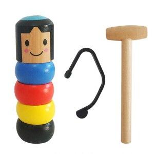 Immortal Daruma Magic Tricks Unbreakable Wooden Man Magia Close Up Street Illusions Gimmick Prop Funny Japan Traditional toy(China)