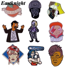 K2085 Singer Feminism Pin Metal Enamel Pins and Brooches for Women Men Lapel Pin Backpack Bags Cartoon Badge Collection Gifts v280 game mass effect metal enamel pins and brooches fashion lapel pin backpack bags badge collection
