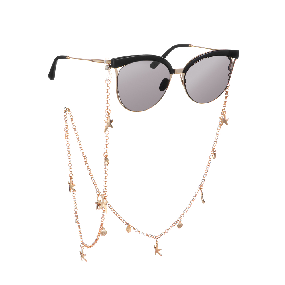 70cm Starfish Shell Sunglasses Chains Pearls Rhinestones Eyeglass Cord Holder Lanyard Necklace Glasses Beaded Neck Strap Rope
