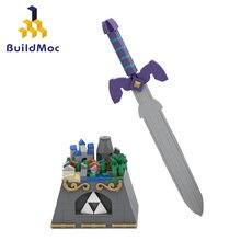 Moc przestrzeń zielony miecz gra Zeldas Hyrule zamek niestandardowy bohater wojna kreatywny Diy zabawka budowlana prezent urodzinowy