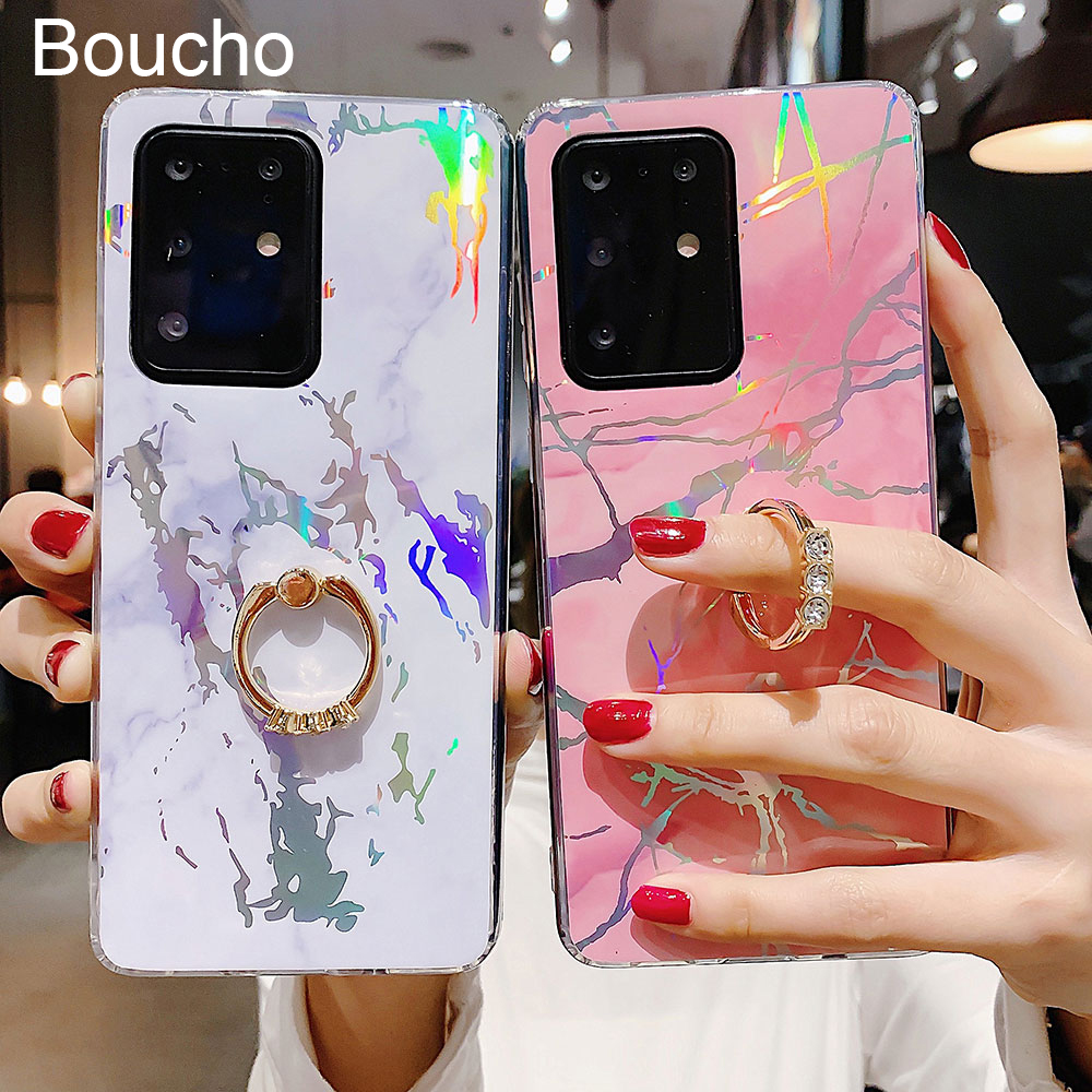 Phone Holder <font><b>Case</b></font> For Samsung Galaxy A50 A70 A30 A20 S9 S8 S10 S20 plus Ultra <font><b>Note</b></font> 8 <font><b>9</b></font> 10 plus Back Cover <font><b>With</b></font> Finger <font><b>Ring</b></font> image