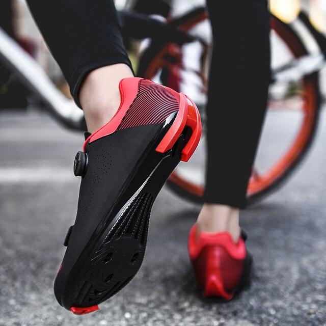 Homens sapatos de bicicleta de estrada tênis de bicicleta anti-deslizamento respirável sapatos de ciclismo auto-bloqueio triathlon sapatos atléticos zapatos 3