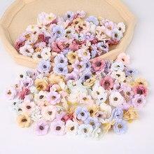 3cm sztuczny jedwab Mini chryzantema głowa DIY akcesoria walentynki wesele wakacje dekoracja domu kwiat głowy