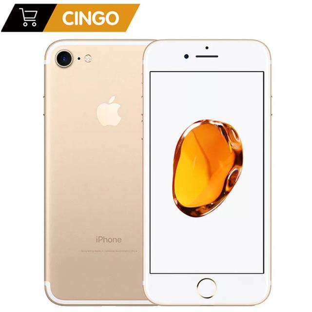 "unlocked original used Apple iPhone 7 iphone7 2GB RAM 32/128 / 256GB ROM 4.7"" 99 new  12.0MP camera quad core 4K video LTE"