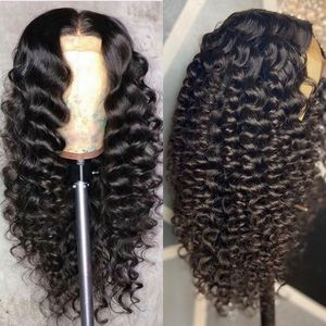 Image 2 - VSHOW Brazilian Deep Wave Wigs For Women 13x4 Lace Frontal WigS 180% Density Lace Closure Wigs Remy Loose Deep Human Hair Wigs