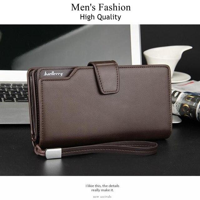 Baellerry Long Wallet Men Zipper Purse for Men Coin Purses Clutch Male Wallets portefeuille homme MWS002-4 3
