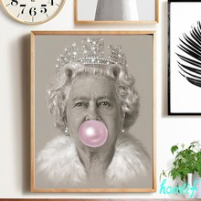 Drill Mosaic Diamond-Painting Bubblegum Queen Elizabeth Picture Of Rhinestones Art 5D Diamond Embroidery christmas decorations(China)