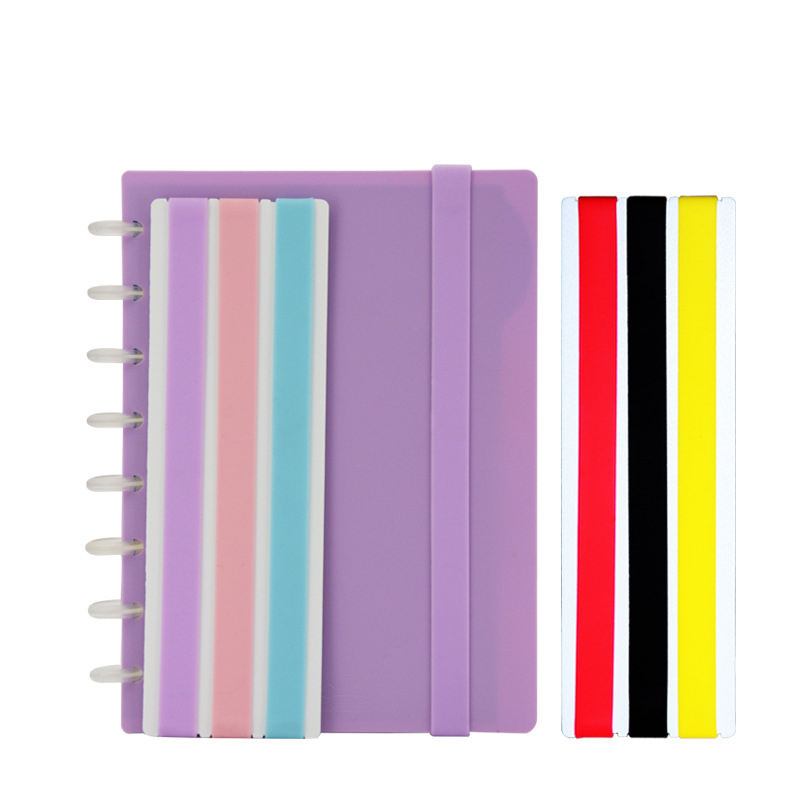 Fromthenon 3pcs Candy Color Planner Silicone Strap A5 Notebook Elastic Band Diary Scrapbooking Accessories Office Supplies