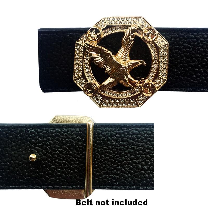 Vintage Hexagon Buckle Eagle Icon Accessories Belt Bukles For Men Heavy Metal Hard Solid Brass Men Fashion Men Leisure Suits