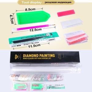 Image 5 - Meian Special Shaped Diamond Embroidery Beauty Lady 5D Diamond Painting Cross Stitch 3D Diamond Mosaic Full Drill Home Kits