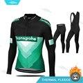Мужская одежда для велоспорта Pro Team Boraing  зимний комплект из Джерси с длинным рукавом для велоспорта Hansgrohe Ciclismo  теплая флисовая одежда