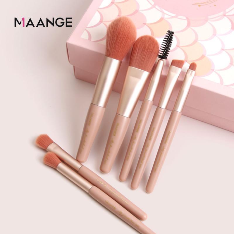 7pcs Makeup Brush Sets Portable Mini Powder Brush Eyeshadow Brush Profession Cosmetic Makeup Brush Multipurpose Makeup Tool Hot