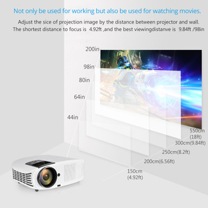 Image 5 - AAO YG600 HD Projector 4000 Lumens LCD Beamer Support Full HD 1080P Home Theatre HDMI VGA USB Video 3D Portable GMK1 Projector