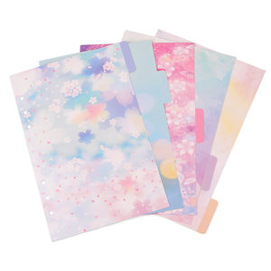 5Pcs/Set A5 A6 Sakura Diary Notebook Replace Pages Index Of Paging Separators Loose-Leaf Index Paper Office School Supplies