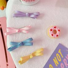 2pcs Macarons bow hairpin girl heart student soft sister bow duckbill clip side clip female baby super cute hair accessories Sty(China)
