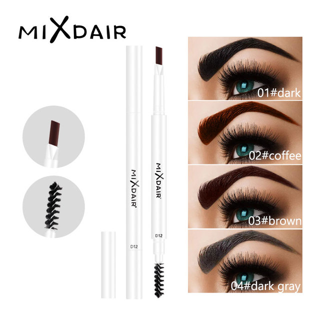 MIXDAIR Eyebrow Pencil 4 Colors Natural Long Lasting Paint Eye Brow Tint Double-end Waterproof Eyebrow Pen Beauty Make Up
