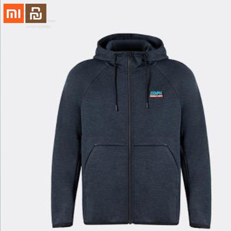 Xiaomi Mijia Men's Cationic Plus Velvet Sports Jacket Autumn And Winter Thickening Jacket Anti-static Men's Zipper Jacket Smart