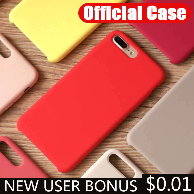 Original Offical Silicone For iPhone 7 8 Plus 11 Phone Case For iPhone 11 Pro X XR XS MAX Cases For iPhone 6 Cover Coque NO logo