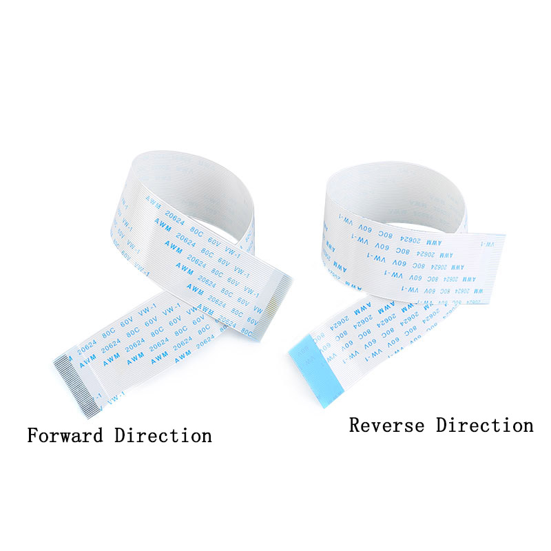 10PCS 4/5/6/8/<font><b>10</b></font>/12/14/16/18/20/24/26/30 <font><b>Pin</b></font> FPC/FFC Ribbon Flexible <font><b>Flat</b></font> <font><b>Cable</b></font> Pitch 1.0MM Wire Length 15CM image