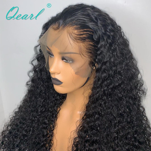 "Image 3 - 250% 400% Density Human Hair Wigs For Black Women Malaysian Curly Remy Hair Lace Front Wig Pre plucked 13x4  28"" 30"" 32"" Qearl"