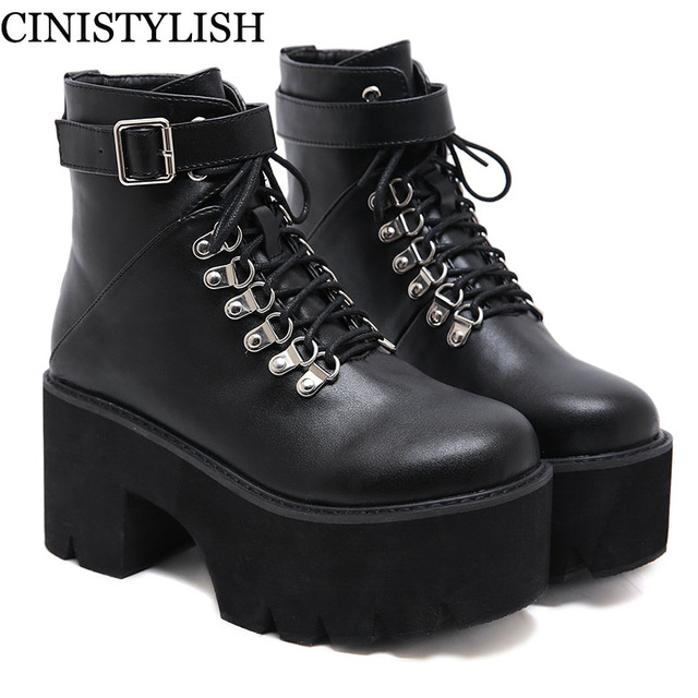Goth Shoes On Platform Punk Sexy Buckle