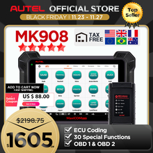Autel MaxiCOM MK908 OBD2เครื่องสแกนเนอร์เครื่องมือวินิจฉัยรถยนต์OBDII OEระดับBi Directional Control Key ProgrammerรหัสReader PK MK808