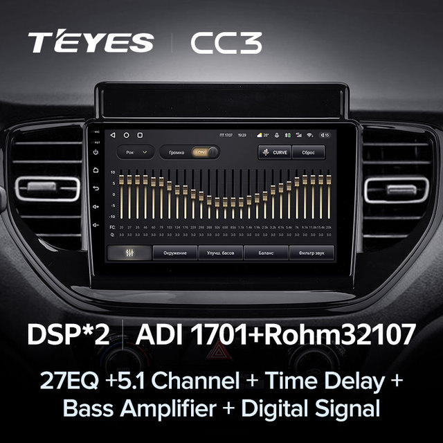 TEYES CC3 Штатная магнитола For Хендай Солярис 2 рестайлинг For Hyundai Solaris 2 II 2020 - 2021 до 8-ЯДЕР, до 6 + 128ГБ 27EQ + DSP carplay автомагнитола 2 DIN DVD android 10 мультимедиа автомобиля головное устройство 4