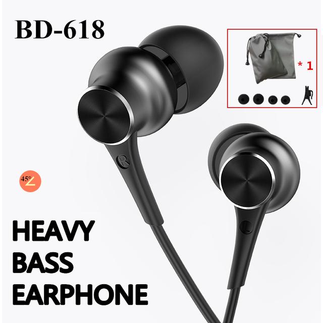 Stereo Bass earphone with microphone