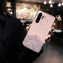 YBD Love Heart Glitter Phone Case For Samsung Galaxy S10 S9 S8 Plus S10 Lite cute Cover for Note  8 9 NOTE10 PRO