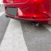 Paslanmaz çelik arka egzoz susturucu egzoz borusu ucu Trim Mazda 3 axela 2020 için scorpius tarzı