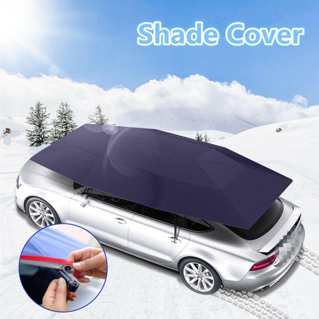 Cor aleatória universal carro guarda-chuva sol sombra capa tenda pano resistente uv cobertura de telhado ao ar livre anti-uv sol-prova
