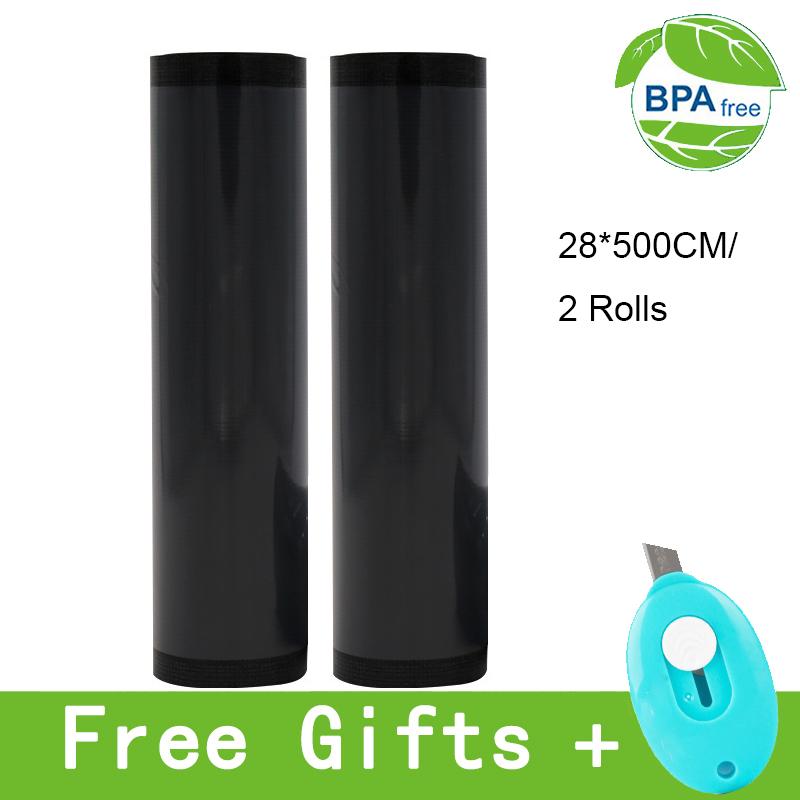 Black vacuum food grain packaging bag nylon material light resistant, fresh keeping commercial plastic single sided granular bag