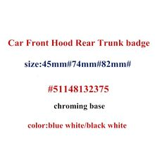 10pcs 74mm 82mm 45mm Car Front Hood Rear Trunk Emblem Badge Cover 2 Pins fit for E46 E39 E38 e90 E60 E71 E49 Z3 Z4 X3 X5 X6