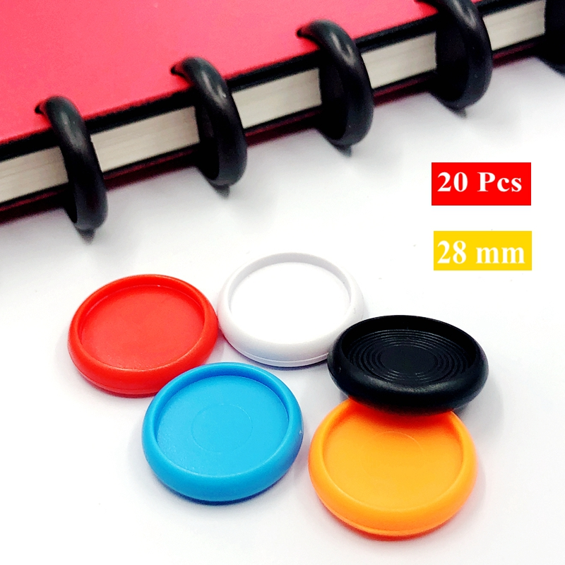 20 Pcs 28mm Solid Color Disc Binders For Notebooks/Planner Diy Loose Leaf Binding Rings Discbound Notebook Accessorries CX19-009