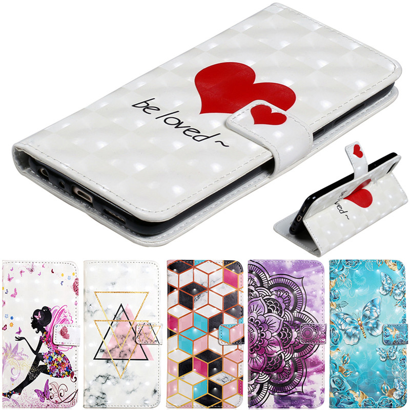 3D Flip Cartoon Leather Phone Case For <font><b>Huawei</b></font> P40 P30 Pro <font><b>P20</b></font> <font><b>Lite</b></font> <font><b>Mate</b></font> 20 Mtae 30 P10 <font><b>lite</b></font> Wallet Card Stand Cover <font><b>Capa</b></font> Coque image