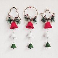 Schnur Weihnachten Baum Glocke Anhänger 3D Weihnachten Ornament Hängen Anhänger Stern Weihnachten Baum Glocke Weihnachten Dekorationen Hause Navidad