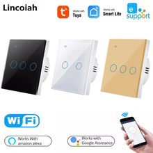 Wifi Wall Touch Switch EU No Neutral Wire Required Smart Light Switch 1 2 3 Gang 110V 220V Tuya Smart Home For Alexa Google Home