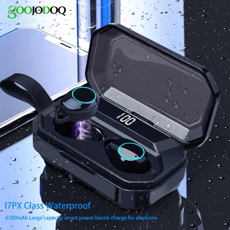 G02 TWS 5.0 słuchawki stereofoniczne Bluetooth słuchawki bezprzewodowe 4000mAh IPX7 wodoodporne słuchawki Bluetooth sportowy zestaw słuchawkowy Touch