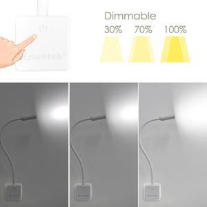 Image 4 - Luz LED de pared enchufable, lámpara de lectura con brazo oscilante regulable, para cabecera, 3W, 280Lm, iluminación blanca Natural, 5000K