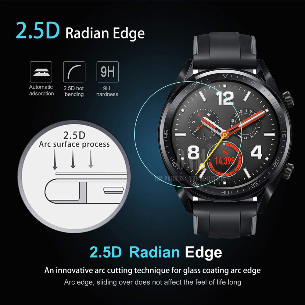 9H Premium Tempered Glass For Huawei Watch Gt GT 2 46mm Smartwatch Screen Protector Explosion-Proof Film Accessories 3