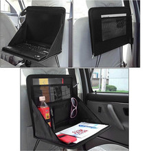 Folding Table Car Back Seat Storage Tidy Organiser DVD Laptop Holder Tray Travel  Organizador Vehiculo